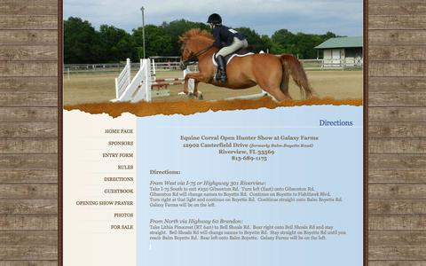 Screenshot of Maps & Directions Page equinecorral.com - Equine CorralDirections - captured Oct. 7, 2014