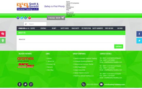 Screenshot of About Page safety1stsafety.com - About Us - captured Nov. 2, 2014