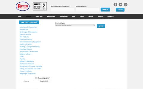 Screenshot of Products Page astechireland.ie - Product Information | Astech Ireland Ltd - captured Oct. 4, 2014