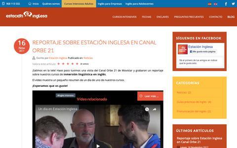 Screenshot of Blog estacioninglesa.es - Blog Cursos Intensivos de Inglés   Estación Inglesa - captured Sept. 29, 2018
