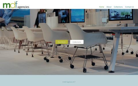 Screenshot of Home Page mdfagencies.com - MDF Agencies – Prestigious Furniture Suppliers - captured June 9, 2017
