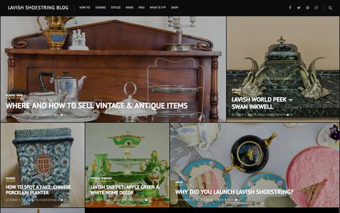 Screenshot of Blog lavishshoestring.com - Lavish Shoestring blog – Vintage Homewares - captured July 16, 2018