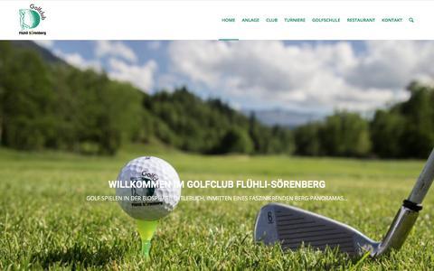 Screenshot of Home Page gcfs.ch - Golfclub Flühli-Sörenberg   Startseite - captured May 21, 2018