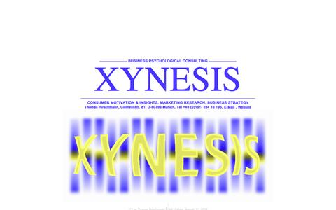 Screenshot of Home Page xynesis.de - XYNESIS CONSULTING - captured Feb. 23, 2016