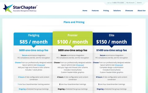 Screenshot of Signup Page starchapter.com - Pricing | StarChapter - Association Management Made Easy - captured Sept. 23, 2014