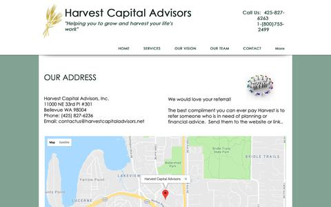 Screenshot of Maps & Directions Page harvestcapitaladvisors.com - Harvest Capital | MAP - captured Nov. 10, 2018