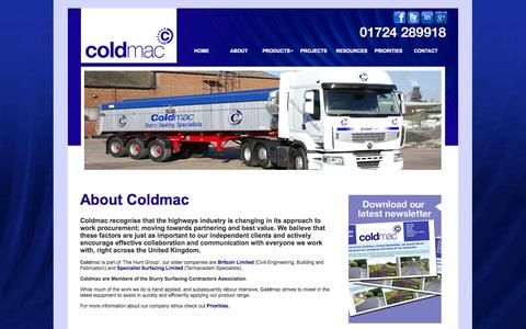 Screenshot of About Page coldmac.co.uk - Coldmac - About Us - captured Oct. 2, 2014