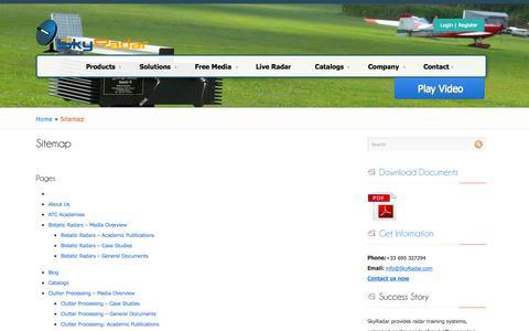 Screenshot of Site Map Page skyradar.com - SkyRadar - Radar Training Systems, SITEMAP - captured Oct. 26, 2014
