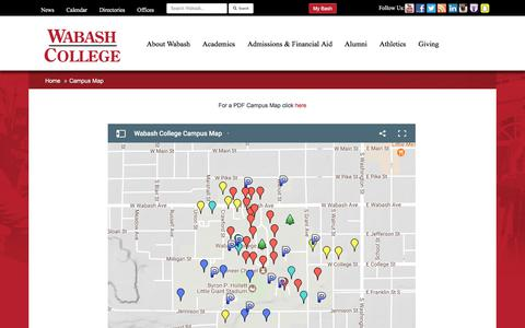 Wabash College Campus Map.Education Maps Directions Pages Website Inspiration And Examples