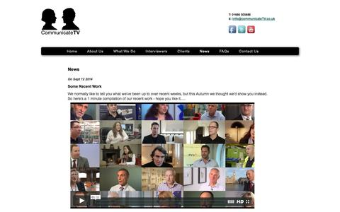 Screenshot of Press Page communicatetv.co.uk - Communicate TV - captured Sept. 30, 2014