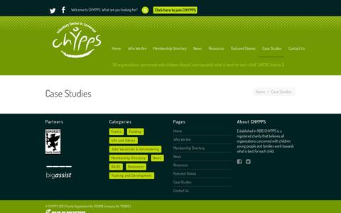 Screenshot of Case Studies Page chypps.org.uk - Case Studies | CHYPPS - captured Oct. 2, 2014