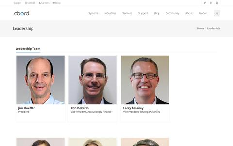 Screenshot of Team Page cbord.com - Leadership | The CBORD Group - captured July 11, 2019
