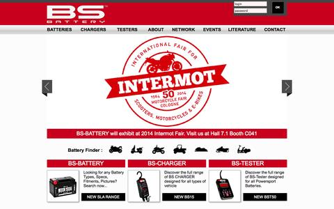 Screenshot of Home Page bs-battery.com - BS-Battery - captured Sept. 30, 2014