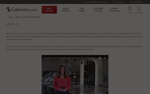 Screenshot of About Page cabinets.com - About Us - #1 Online Cabinet Retailer | Cabinets.com - captured May 23, 2018