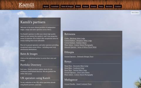 Screenshot of Locations Page kamilisafaris.com - Locations - Kamili Safaris - captured Oct. 6, 2014