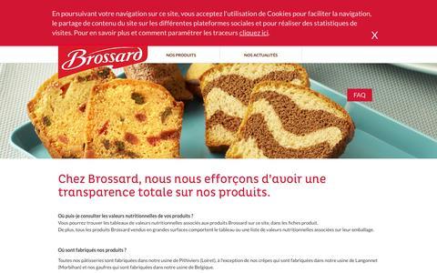 Screenshot of FAQ Page brossard.fr captured Dec. 28, 2015