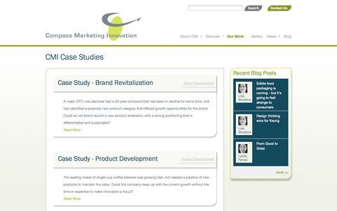 Screenshot of Case Studies Page compassmarketinginnovation.com - CMI Case Studies | compassmarketinginnovation - captured Sept. 30, 2014