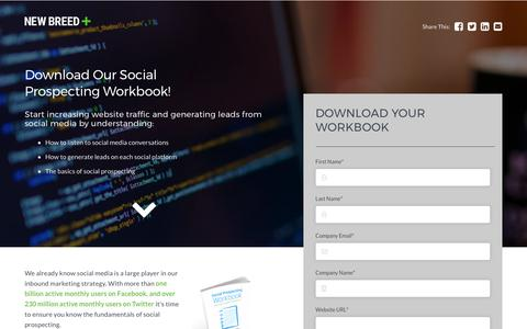 Social Prospecting Workbook | New Breed