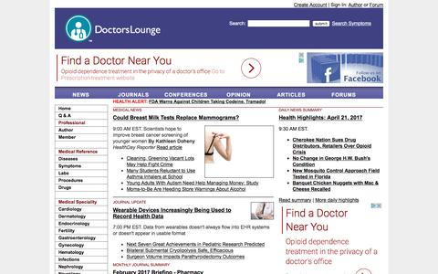 Medical News, Opinion, Health Information, Journal and Conference Briefings, Industry Alerts on Doctors Lounge