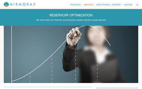 Screenshot of Services Page mirmorax.com - Mirmorax – a leading provider of sampling and monitoring systems - captured Sept. 21, 2018