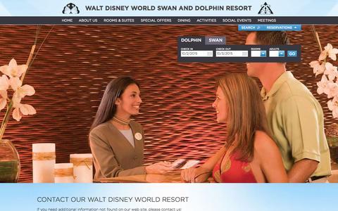 Screenshot of Contact Page swandolphin.com - Disney World Hotel | Contact Swan and Dolphin | SwanDolphin.com - captured Oct. 2, 2015
