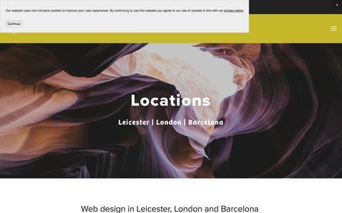 Screenshot of Locations Page newlandweb.com - Locations — Newland Website Design & Social Media Management | Leicester | London | Barcelona - captured July 8, 2018