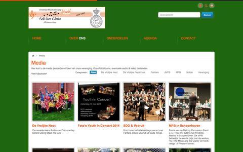 Screenshot of Press Page sdgalblasserdam.nl - Media zoals foto's en video's van Soli Deo Gloria - captured Oct. 2, 2014