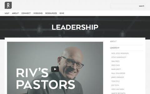 Screenshot of Team Page rivchurch.com - Leadership - Riverview Church - captured Dec. 3, 2016