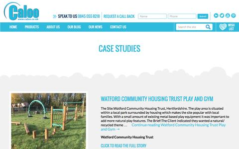 Screenshot of Case Studies Page caloo.co.uk - Case Studies | Caloo Ltd - captured Nov. 29, 2016