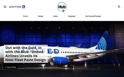 Screenshot of Press Page united.com - United Hub - Newsroom - captured April 27, 2019