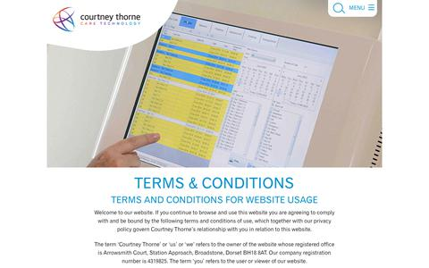 Screenshot of Terms Page nursecallsystems.co.uk - Terms & Conditions   Courtney Thorne nurse call systems - captured Nov. 16, 2019
