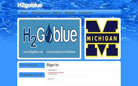 Screenshot of Login Page h2goblue.com - H2goblue - captured Oct. 1, 2014