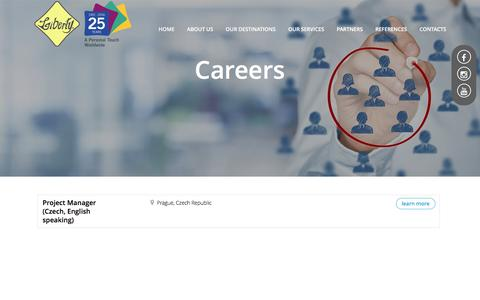 Screenshot of Jobs Page liberty-int.com - Contacts careers - captured Jan. 5, 2017