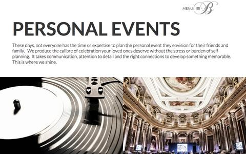 Personal Events | Party Planning London | Bespoke Productions