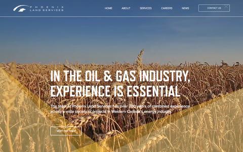 Screenshot of Home Page phoenixland.ca - Phoenix Land Services | Full Service Land Broker - captured Sept. 20, 2015