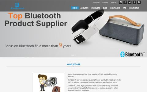 Screenshot of Home Page rambotech.com - Best Bluetooth Headset & Speakers Supplier | Rambotech - captured Sept. 25, 2014