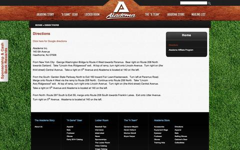 Screenshot of Maps & Directions Page akademapro.com - Directions | Akadema - captured Oct. 4, 2014