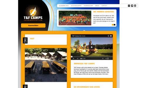 Screenshot of Press Page tfcamps.nl - Media | T&F Camps - captured Oct. 7, 2014