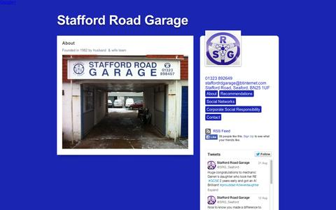 Screenshot of About Page tumblr.com - Stafford Road Garage, About - captured Sept. 11, 2014