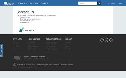 Screenshot of Contact Page hubzu.com - Contact-us | Hubzu - captured May 24, 2017