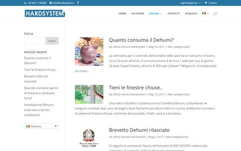 Screenshot of Blog hardsystem.it - Blog | Dehumi - captured July 7, 2017