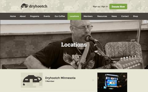 Screenshot of Locations Page dryhootch.org - Groups | Dryhootch - captured Feb. 9, 2016