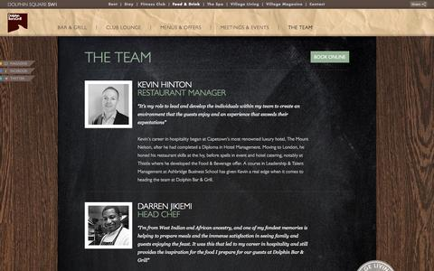 Screenshot of Team Page dolphinsquare.co.uk - The Team - Dolphin Square - captured Oct. 4, 2014