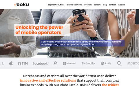 Screenshot of Home Page boku.com - Home – Boku Inc. - captured Feb. 6, 2019