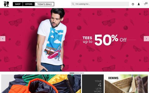 Screenshot of Home Page zovi.com - Online Shopping: Shop online for Mens Shirts, Mens Tees and more - Zovi.com - captured Dec. 9, 2015