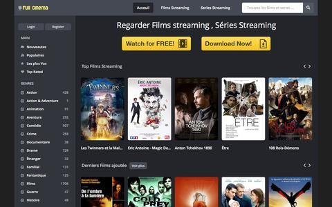 Screenshot of Home Page full-cinema.com - Regarder, Télécharger films streaming, séries streaming gratuitement sur Full Cinéma - captured Jan. 20, 2016