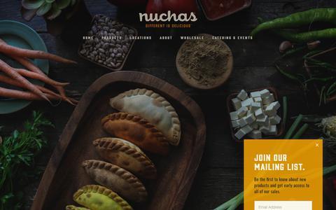 Screenshot of Terms Page nuchas.com - Legal — Nuchas - captured Dec. 25, 2018
