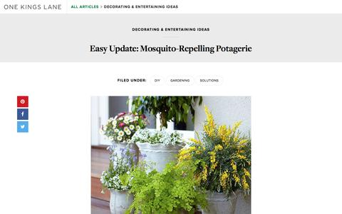 Screenshot of Blog onekingslane.com - Gardening Ideas: Plants that Repel Mosquitoes —One Kings Lane - captured April 22, 2018