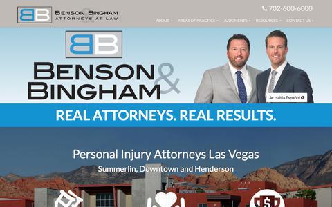 Benson & Bingham: Las Vegas & Henderson Personal Injury Law
