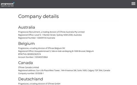 Company details - Progressive Recruitment